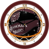 "Missouri State Bears Slam Dunk 12"" Wall Clock"