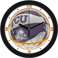 "Texas Christian (TCU) Horned Frogs Slam Dunk 12"" Wall Clock"