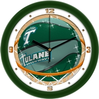 "Tulane Green Wave Slam Dunk 12"" Wall Clock"