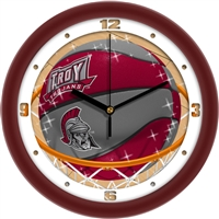 "Troy University Trojans Slam Dunk 12"" Wall Clock"