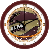 "Louisiana Monroe (ULM) Warhawks Slam Dunk 12"" Wall Clock"