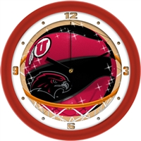 "Utah Utes Slam Dunk 12"" Wall Clock"