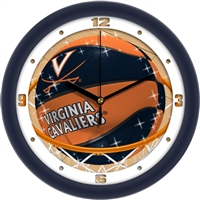 "Virginia Cavaliers Slam Dunk 12"" Wall Clock"