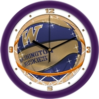 "Washington Huskies Slam Dunk 12"" Wall Clock"