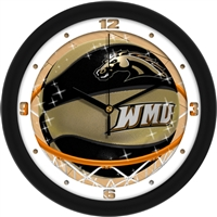 "Western Michigan Broncos Slam Dunk 12"" Wall Clock"