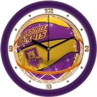 "Weber State Wildcats Slam Dunk 12"" Wall Clock"