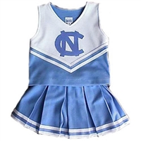 North Carolina Tar Heels NCAA Full Pleat Cheerdreamer Two-Piece Uniform (Powder Blue 12)