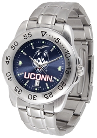 Connecticut Huskies UCONN Sport Steel Watch - AnoChrome Dial