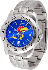Kansas Jayhawks Sport Steel Watch - AnoChrome Dial