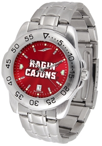 Louisiana Lafayette (ULL) Ragin' Cajuns Sport Steel Watch - AnoChrome Dial