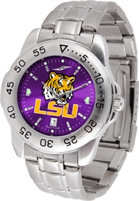 Louisiana State LSU Tigers Sport Steel Watch - AnoChrome Dial