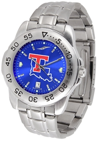 Louisiana Tech (LA Tech) Bulldogs Sport Steel Watch - AnoChrome Dial