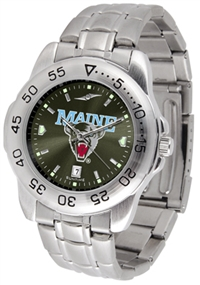Maine Black Bears Sport Steel Watch - AnoChrome Dial