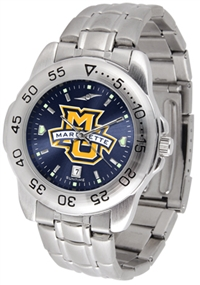 Marquette Golden Eagles Sport Steel Watch - AnoChrome Dial