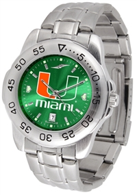 Miami Hurricanes Sport Steel Watch - AnoChrome Dial