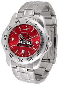Miami Ohio Redhawks Sport Steel Watch - AnoChrome Dial