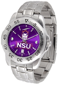 Northwestern State University Demons Sport Steel Watch - AnoChrome Dial