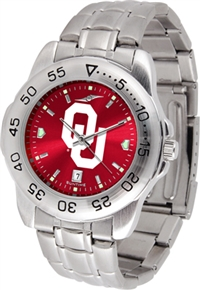 Oklahoma Sooners Sport Steel Watch - AnoChrome Dial
