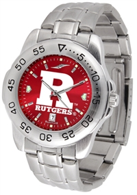 Rutgers Scarlet Knights Sport Steel Watch - AnoChrome Dial