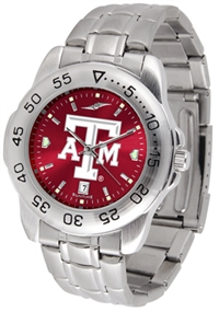 Texas A&M Aggies Sport Steel Watch - AnoChrome Dial