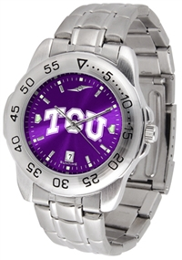 Texas Christian (TCU) Horned Frogs Sport Steel Watch - AnoChrome Dial