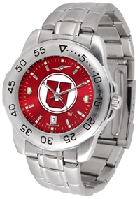Utah Utes Sport Steel Watch - AnoChrome Dial