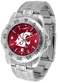 Washington State Cougars Sport Steel Watch - AnoChrome Dial