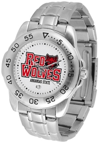Arkansas State Red Wolves Sport Steel Watch