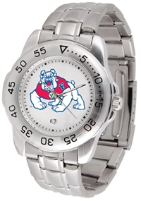 Fresno State Bulldogs Sport Steel Watch