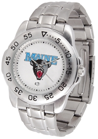 Maine Black Bears Sport Steel Watch