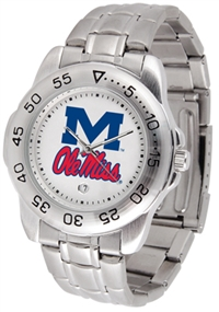 Ole Miss Rebels Sport Steel Watch