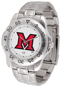 Miami Ohio Redhawks Sport Steel Watch