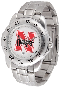 Nebraska Huskers Sport Steel Watch