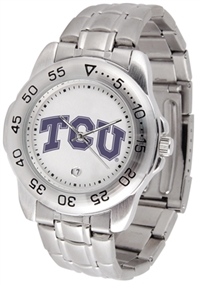 Texas Christian (TCU) Horned Frogs Sport Steel Watch
