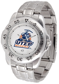 UTEP Miners Sport Steel Watch