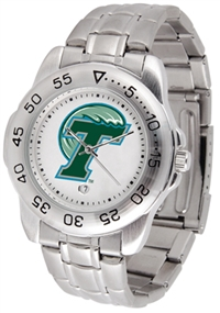 Tulane Green Wave Sport Steel Watch
