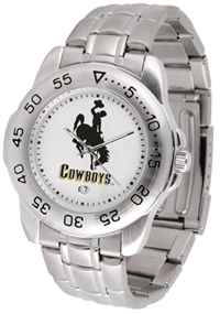 Wyoming Cowboys Sport Steel Watch