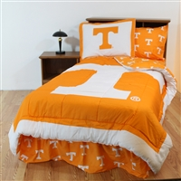 Tennessee (UT) Volunteers Bed in a Bag Twin - With Team Colored Sheets