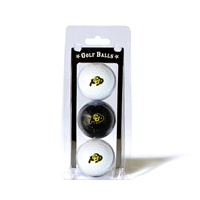 Colorado Golden Buffaloes NCAA 3 Ball Pack