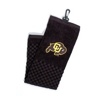 Colorado Golden Buffaloes NCAA Embroidered Tri-Fold Towel