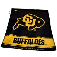 Colorado Golden Buffaloes NCAA Woven Golf Towel