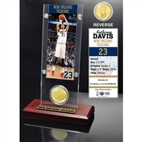 Anthony Davis Ticket & Bronze Coin Acrylic Desk Top