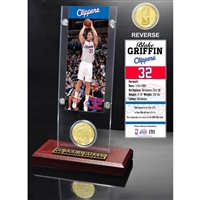 Blake Griffin Ticket & Bronze Coin Acrylic Desk Top