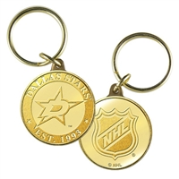Dallas Stars NHL Dallas Stars Bronze Coin Keychain