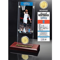 John Wall Ticket & Bronze Coin Acrylic Desk Top