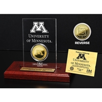 Minnesota Golden Gophers 24KT Gold Coin Etched Acrylic