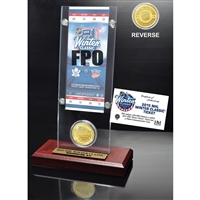 2015 Winter Classic Ticket & Bronze Coin Acrylic Desktop