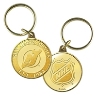 New Jersey Devils NHL New Jersey Devils Bronze Coin Keychain