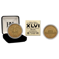 Super Bowl XLVI Bronze Flip Coin