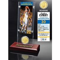Stephan Curry Ticket & Bronze Coin Acrylic Desk Top